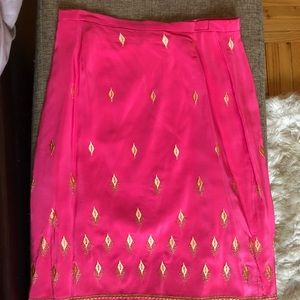 Tocca pink/ gold silk skirt, 2, perfect condition
